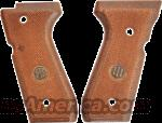 Beretta 92SB Factory Italian Checkered Walnut Grips OK for 92F 92FS 96 Series New Old Stock  Non-Guns > Gun Parts > Grips > Other