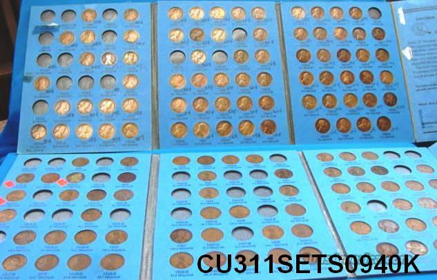 Coins US Lincoln Pair of Starter Sets 1909-1940 137 Pennies G-XF  Non-Guns > Coins