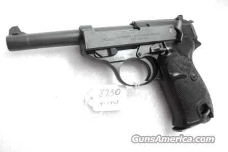 Walther 9mm P38 Lightweight Military 1963 P-38 German Federal Border Guard BGS CA C&R OK with 1 Factory 8 Shot Magazine  Guns > Pistols > Walther Pistols > Post WWII > P38