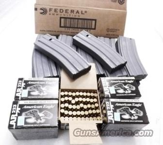 Ammo: .223 Federal Factory Case of 500 Rounds $219 with 10 Colt Factory AR-15 Unissued 30 Shot Magazines 10x$22 55 grain FMJ American Eagle $15 ship L48  Non-Guns > Magazines & Clips > Rifle Magazines > AR-15 Type