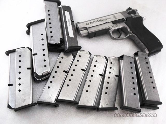 Magazine S&W .45 ACP 4500 Series 8 Shot Stainless Very Good Factory Smith & Wesson 45 Automatic Models 4506 4566 4586 645 745 4576   Non-Guns > Magazines & Clips > Pistol Magazines > Smith & Wesson