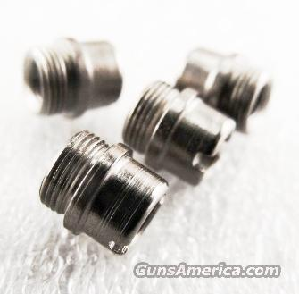 Colt Government Stainless Grip Screw Bushings Set of 4 any 1911 JMA4518S fit Officers Armscor AOC Kimber any 1911 Family Pistol  Non-Guns > Gun Parts > 1911