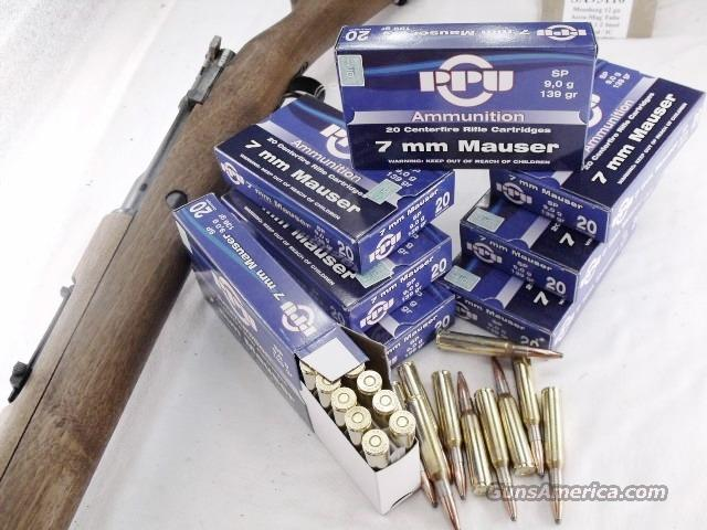 Ammo: 7mm Mauser 7x57 139 grain Soft Point 100 Round Lots of 5 Boxes Prvi Partizan TR&Z Brass Case Ammunition Cartridges  Non-Guns > Ammunition