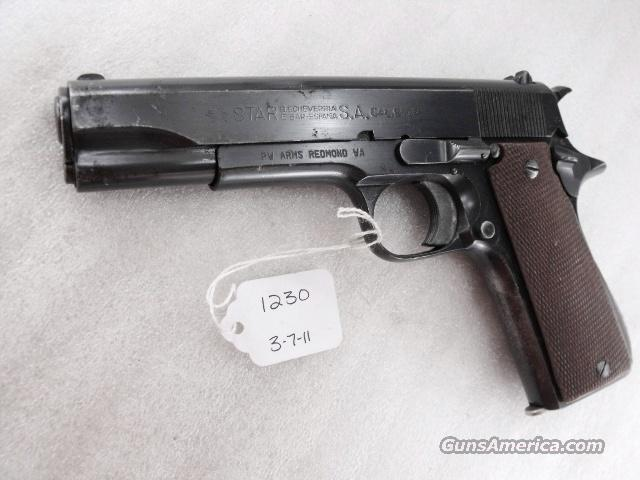 Star Spain 9mm Model B Colt Government Size Steel Frame 1943 Israeli Army Police VG 1 Magazine  Guns > Pistols > Star Pistols