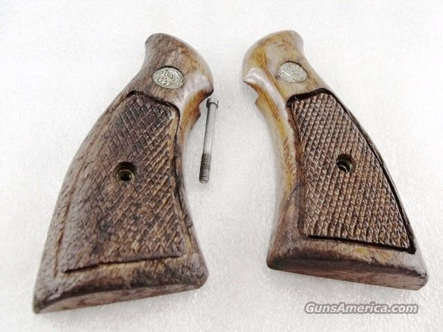 Grips S&W K or L Frame Square Butt Factory Magna Walnut Condition 1970s   Non-Guns > Gun Parts > Grips > Smith & Wesson