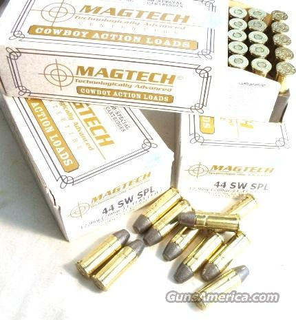 Ammo: .44 Special 300 round Lot of 6 Boxes MagTech 200 grain Lead Cowboy Mag-tech teck 44 Smith & Wesson Special Ammunition Cartridges Sellier & Bellot Partner  Non-Guns > Ammunition