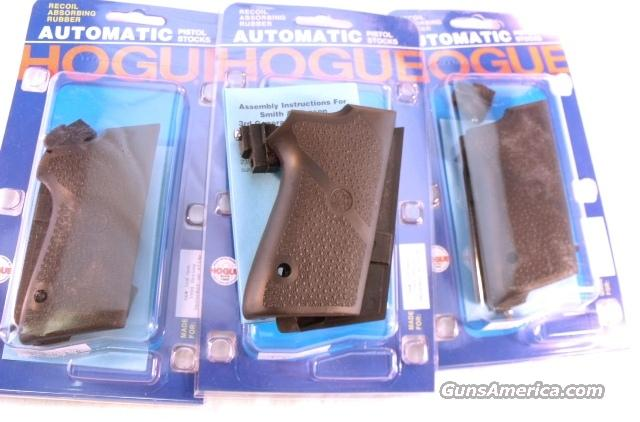 Grips for Smith & Wesson 9mm Compact 3900 type Only Hogue Combat New GR13010 S&W Models 3913 3953 908 908S No Decocker No Double Stack  Non-Guns > Gun Parts > Grips > Smith & Wesson