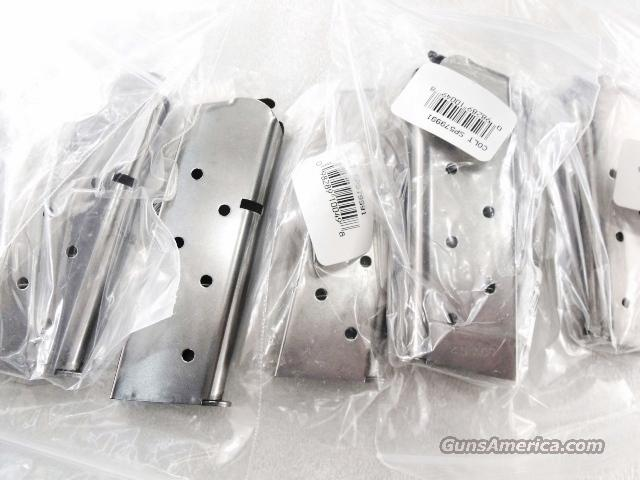 Lots of 3 or more Magazines Colt .45 ACP Factory 8 Round Stainless 1911 Compact Officers ACP Agent Defender Detonics MC1 Rock Island Compact NIB   Non-Guns > Magazines & Clips > Pistol Magazines > 1911