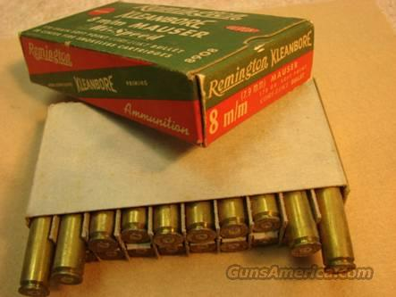 Ammo Box & Brass: Rem Kleanbore 1940s 8mm Mauser Box & Fired Brass VG Cond  Non-Guns > Collectible Cartridges