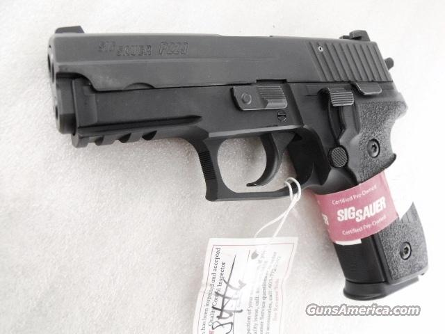 Sig 9mm P-229 CPO 13 Shot 2 Magazines Mint in Box Certified Pre Owned Sig Sauer Arms with Rail   Guns > Pistols > Sig - Sauer/Sigarms Pistols > P229