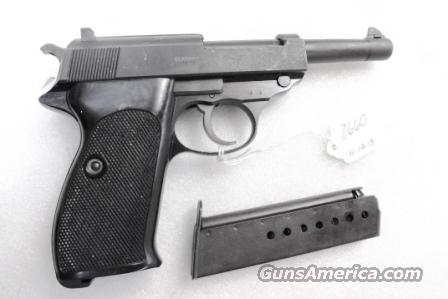 Walther 9mm P38 Lightweight Military 1962 P-38 Federal German Police Bundespolizei CA C&R OK with 1 Factory 8 Shot Magazine  Guns > Pistols > Walther Pistols > Post WWII > P38