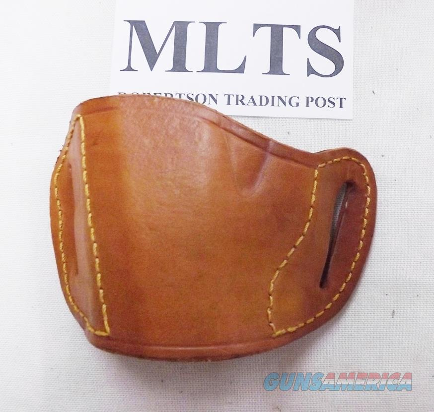 Bulldog Tan Leather Belt Slide Concealment Holster LEFT HAND SHOOTER Small Semi Autos MLTS Walther PPK P22 Taurus PT708 709 Ruger LCP LC9 Kel Tec .32 .380 9mm   Non-Guns > Holsters and Gunleather > Concealed Carry