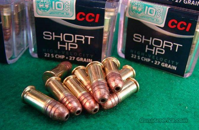Ammo: .22 Short CCI 100 round Boxes 27 grain Hollowpoint Bricks and Cases Available  Non-Guns > Ammunition