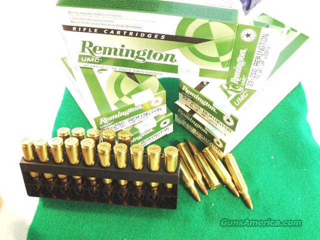 Ammo: .22-250 Remington 20 Round Boxes UMC 50 grain Hollow Point Ammunition Cartridges 22250 22.250  Non-Guns > Ammunition