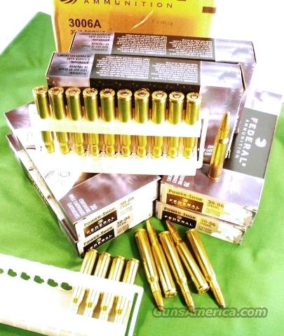 Ammo: .30-06 Federal 150 grain 200 Round Factory Case of 10 Boxes Power Shok Soft Point Shock Ammunition Cartridges 3006A  Non-Guns > Ammunition