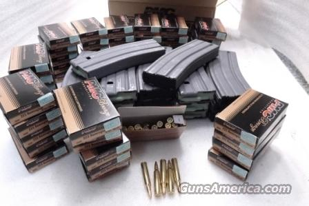 Ammo: .223 PMC 1000 Round Case of 50 Boxes with 10 Colt Factory AR15 30 Shot magazines 55 grain FMJ Boattail $419 + 10x$27 = $689  Non-Guns > Ammunition