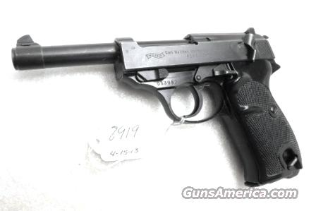 Walther 9mm P38 Lightweight Military 1958 P-38 German Federal Border Guard BGS CA C&R OK 1 Factory 8 Shot Magazine  Guns > Pistols > Walther Pistols > Post WWII > P38