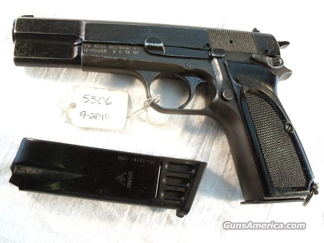 FN Browning 9mm Hi-Power Israeli G-ood1959 Updated w/2 Magazines  Guns > Pistols > Military Misc. Pistols Non-US