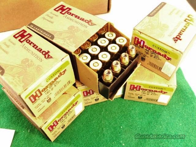 Ammo: .44 Special Hornady 100 Round Lot of 5 Boxes 180 grain XTP Jacketed Hollow Point 44 S&W Special Caliber chambers in most 44 Magnum firearms - Ammunition Cartridges  Non-Guns > Ammunition