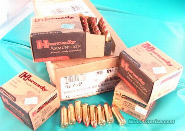 Ammo: .45 Colt Hornady 225 FTX Leverevolution 20 Box  Non-Guns > Ammunition