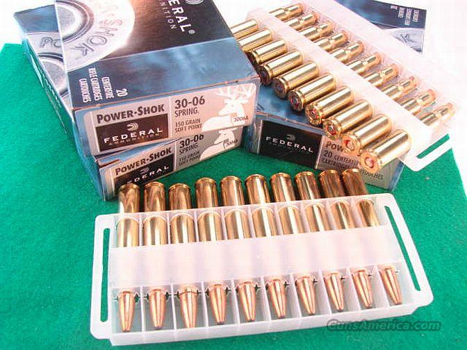 Ammo: .30-06 Fed 150 gr Power Shok 20 Bx  Non-Guns > Ammunition