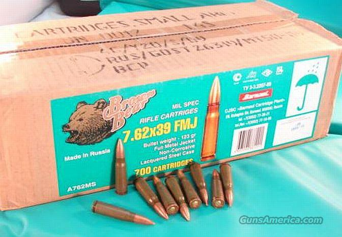 Ammo: 7.62x39 Russian Mil-Spec Sealed Can 105 Box Lot  Non-Guns > Ammunition