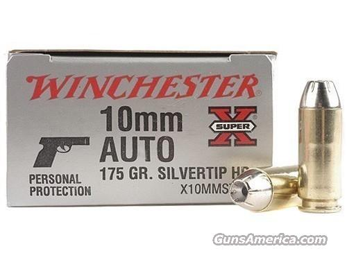 Ammo: 10mm Winchester Silvertip 200 Round Case of 10 Boxes 175 grain Hollow Point Ammunition Cartridges  Non-Guns > Ammunition