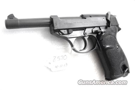 Walther 9mm P38 Lightweight Military 1961 P-38 German Federal Border Guard BGS CA C&R OK with 1 Factory 8 Shot Magazine  Guns > Pistols > Walther Pistols > Post WWII > P38