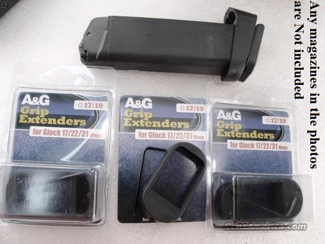 3 Glock Magazine Grip Extensions model 19 23 to 17 22 Magazine XMAG1719            $13 per on 3 or more   Non-Guns > Magazines & Clips > Pistol Magazines > Other