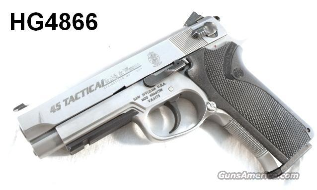 S&W .45 ACP 4566TSW Rail Commander Size VG 2003 FNS Box 3 Mags  Guns > Pistols > Smith & Wesson Pistols - Autos > Steel Frame