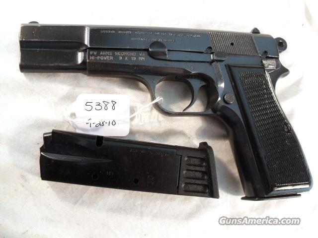 FN Browning 9mm Hi-Power Israeli VG 1967 w/2 Magazines High Power Hi Belgian Belgium  Guns > Pistols > Browning Pistols > Hi Power