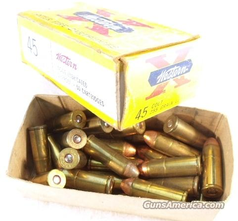 Ammo: .45 Colt 24 rounds 255 Winchester Lubaloy Vintage 1960s Box   Non-Guns > Collectible Cartridges