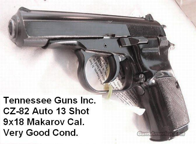CZ 9x18 Makarov CZ-82 VG 13 Round 1 Mag CZ82 CZ 82 C&R Eligible CA OK  Guns > Pistols > Surplus Pistols & Copies