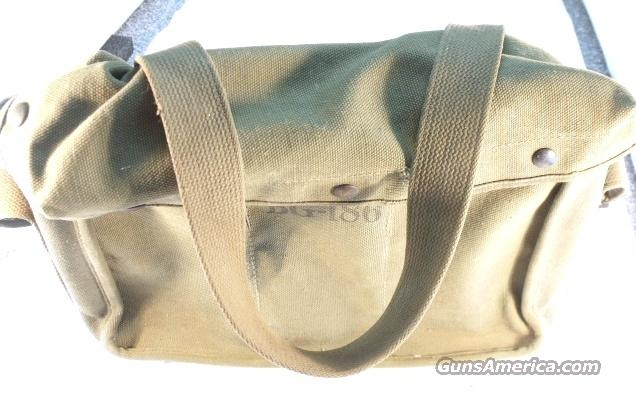 WWII G.I. Radio Equipment Sack OD Green BG-186 VG Cond  Non-Guns > Military > Memorabilia