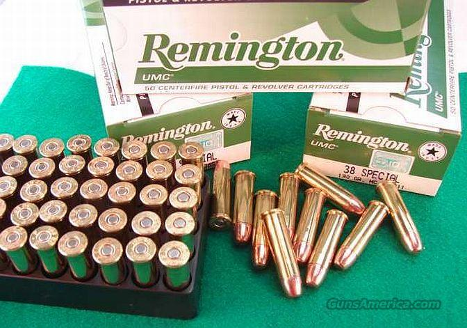 Ammo: .38 Special Remington 50 Round Boxes 130 grain FMC Full Metal Case Jacket 38 Spl Ammunition Cartridges Non +P UMC L38S11  Non-Guns > Ammunition