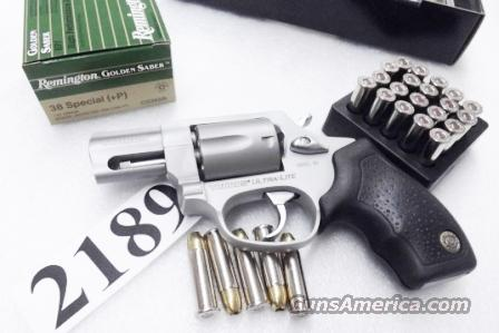 Taurus .38 Special +P Model 85 Ultra Lite Stainless Smith & Wesson Model 637 Airweight Chief copy Snub Nose 38 Spl 2 inch 17 oz Lightweight Alloy Excellent in Box Factory Demo California Compliant 2850029ULFS   Guns > Pistols > Taurus Pistols/Revolvers > Revolvers