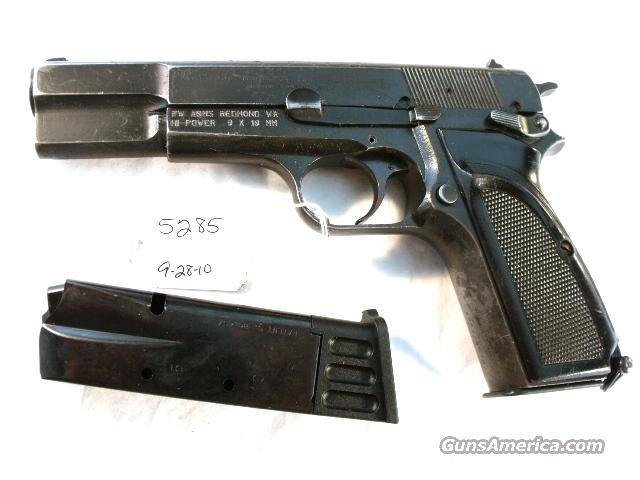 FN Browning 9mm Hi-Power Mark II Israeli Army Police 1985 High Power HiPower Belgian Belgium  Guns > Pistols > FNH - Fabrique Nationale (FN) Pistols > High Power Type