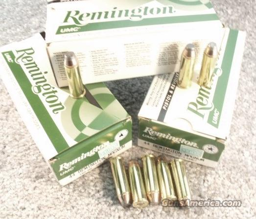 Ammo: .44 Magnum Remington 500 Round 1/2 Case Lot of 10 Boxes L44MG7 180 grain JSP Jacketed Soft Point 44 Mag Ammunition Cartridges 1600 fps  Non-Guns > Ammunition