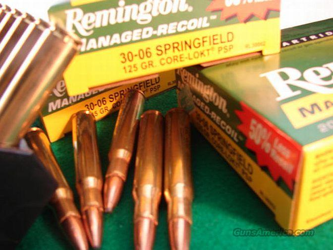 Ammo: .30-06 Managed Recoil Rem 125 PSP Core-Lokt  Non-Guns > Ammunition