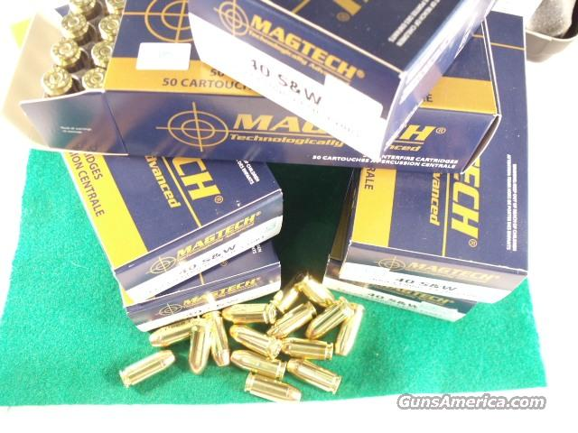 Ammo: .40 S&W Mag-Tech 50 Round Boxes 180 grain FMC 40 Smith & Wesson Caliber Full Metal Case Jacket Ammunition Cartridges Magtech Mag tec teck   Non-Guns > Ammunition