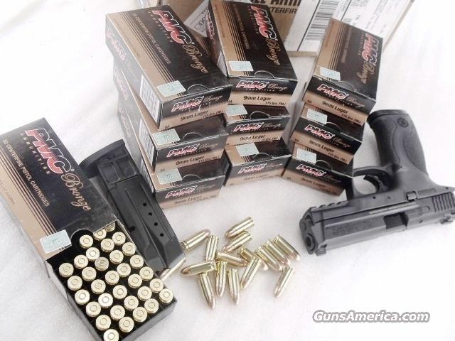 Ammo: 9mm PMC 350 Round  Lot of 7 Boxes 115 grain FMC Bullets Brass Case 1150 fps Full Metal Case Jacket FMJ Ball Ammunition Cartridges 9x19 Luger  Non-Guns > Ammunition