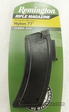 Lots of 3 or more Remington models 10C Nylon 77 Factory 10 Shot Magazine 22 LR XM19656 for Clip Fed Mohawk 10-C or Nylon 77 Semi Automatic Rifles .22 Long Rifle Caliber $19 per on 3 or more  Non-Guns > Magazines & Clips > Rifle Magazines > Other
