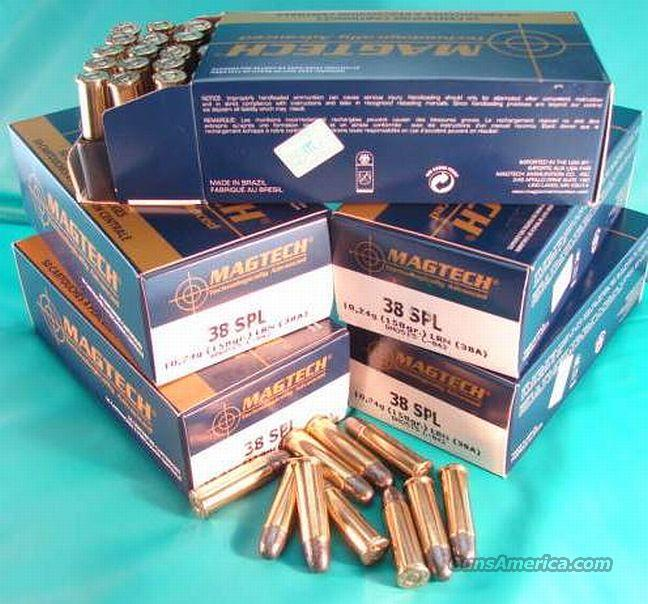 Ammo: .38 Special Mag-Tech 158 grain Lead Round Nose 50 round Box Case Lots Available Magtech Mag tek teck   Non-Guns > Ammunition
