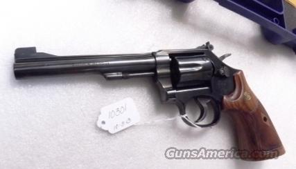 Smith & Wesson .22 Magnum model 48-7 Blue 6 inch Adjustable Target Stocks Target Hammer White Outline High Partridge Combat Trigger Near Mint in Box 150718  Guns > Pistols > Smith & Wesson Revolvers > Full Frame Revolver