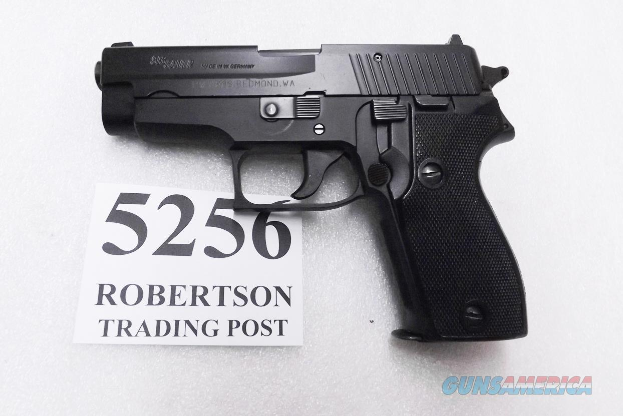 Sig Sauer 9mm model P6 / P225 West German Police Black Ice Teflon Slide Refinish New Factory Barrel Hook Hammer 9 Shot with Dovetailed Magazine Exc  P6HN CA OK   Guns > Pistols > Sig - Sauer/Sigarms Pistols > P239