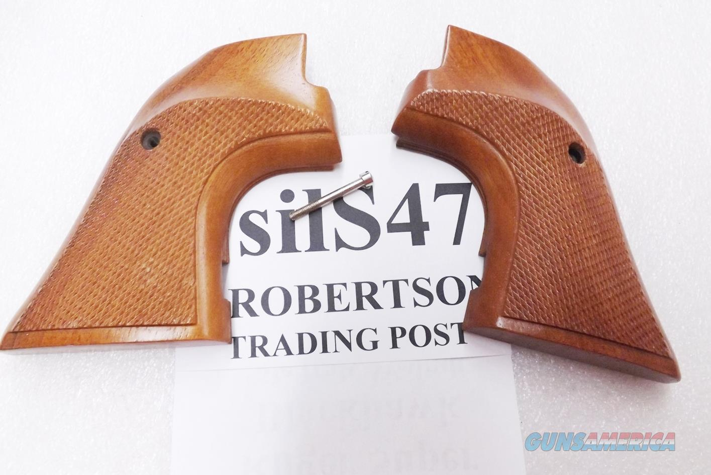 Sile Italian Walnut Target Grips Stocks for Ruger Super Blackhawk Revolver with square Dragoon type Trigger Guards New Old Stock 1980s end Knuckle busting  Non-Guns > Gun Parts > Grips > Other