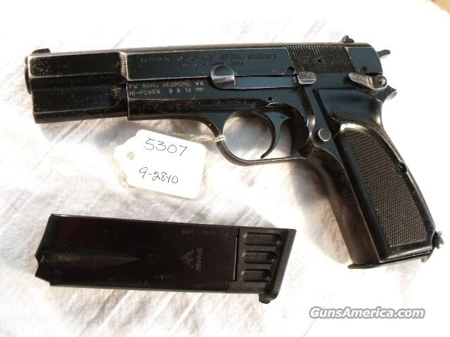 FN Browning 9mm Hi-Power Israeli G-VG 1996 w/2 Magazines  Guns > Pistols > FNH - Fabrique Nationale (FN) Pistols > High Power Type