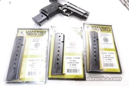 Star M43 Firestar Compact 9mm Pistol Magazine Extension 10 Shot Blue Steel New Triple K manufacture Model 43 only NOT for Firestar Plus Protrudes from the Grip Frame   Non-Guns > Magazines & Clips > Pistol Magazines > 1911