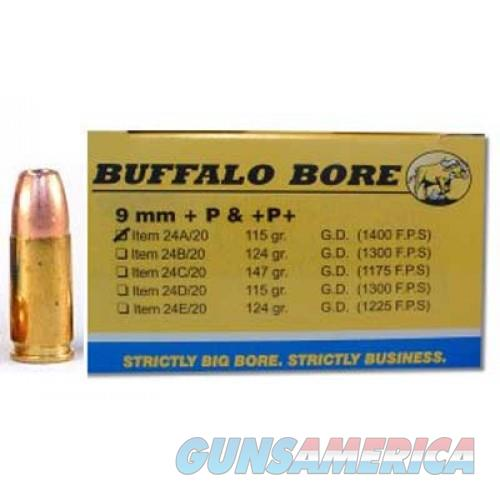 Ammo: 9mm +P+ Buffalo Bore 1400 fps 115 JHP Cor Bon Competitor 24A20   Non-Guns > Ammunition