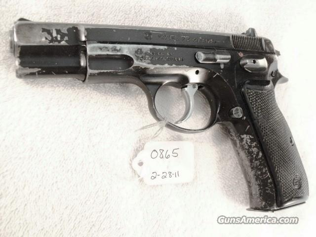 CZ-75 9mm Czech Police 1988  w/ 1 High Capacity 15 Shot Magazine CZ75 CZ model 75 Ceska Zbrojovka Double Action Automatic. Not C & R Eligible  Guns > Pistols > CZ (Ceska ZBrojovka) Pistols